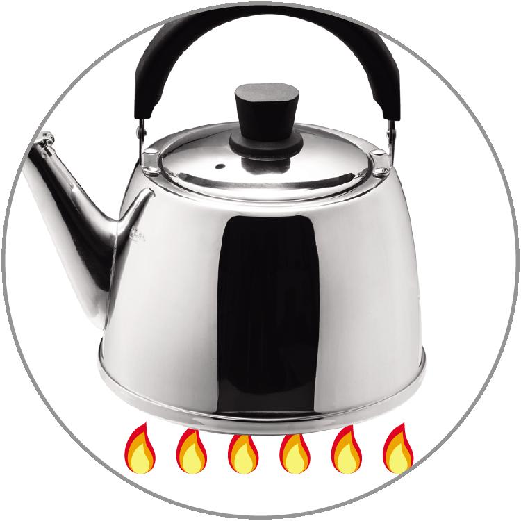 適用於瓦斯爐、電熱爐、陶瓷爐、電磁爐
