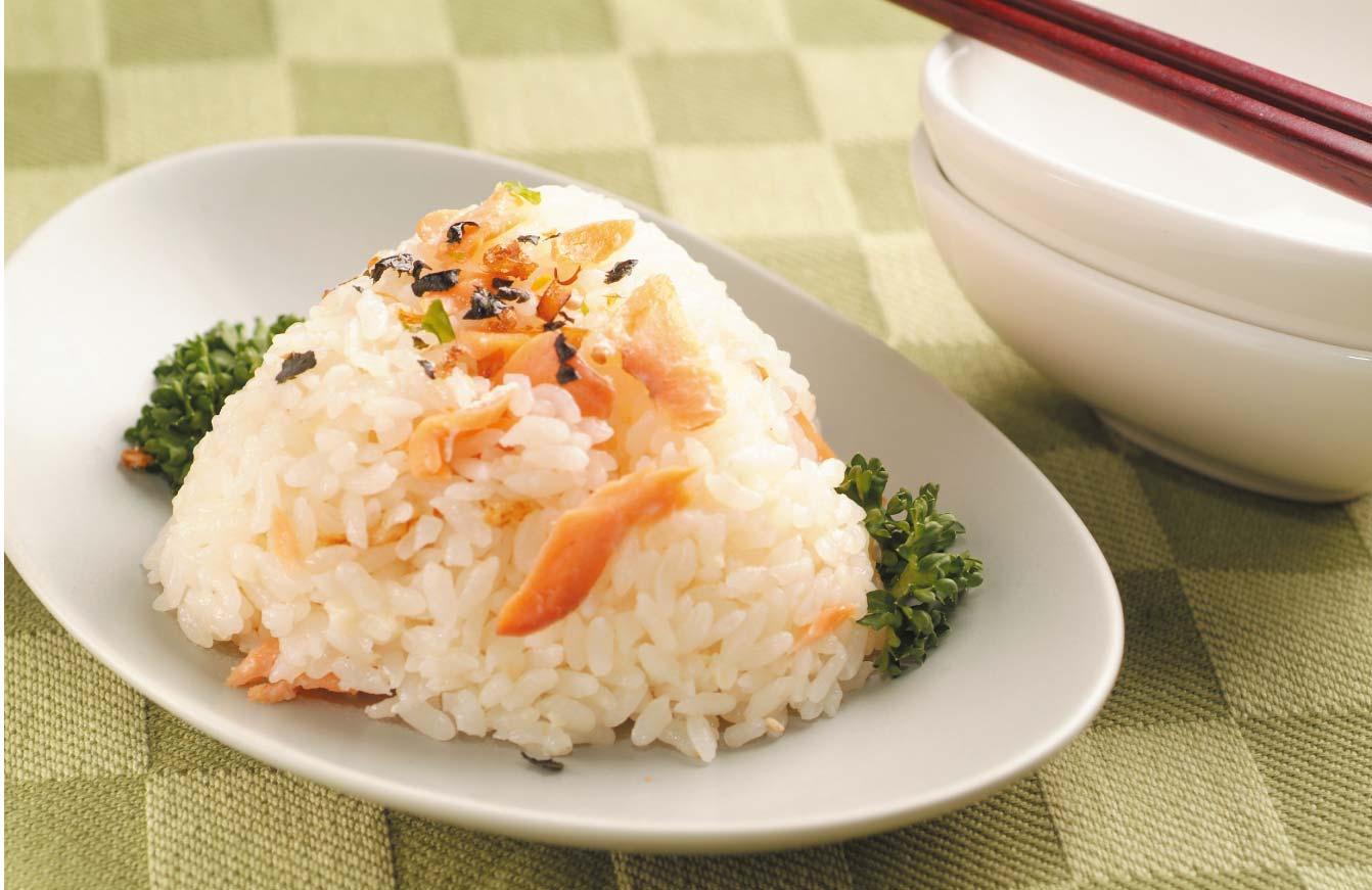 白酒鮭魚飯