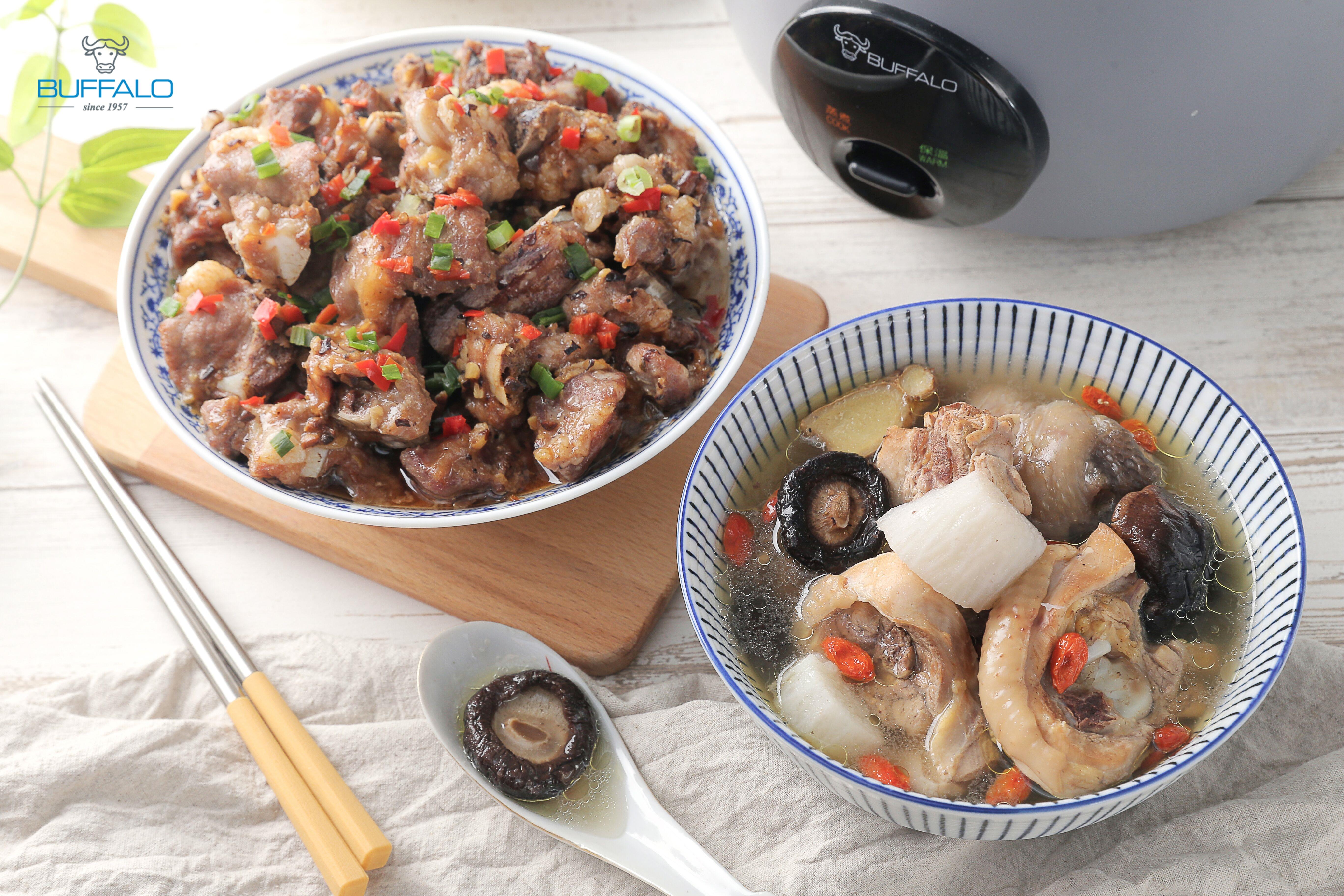 山藥鮮雞湯+豉汁排骨(一鍋二菜)