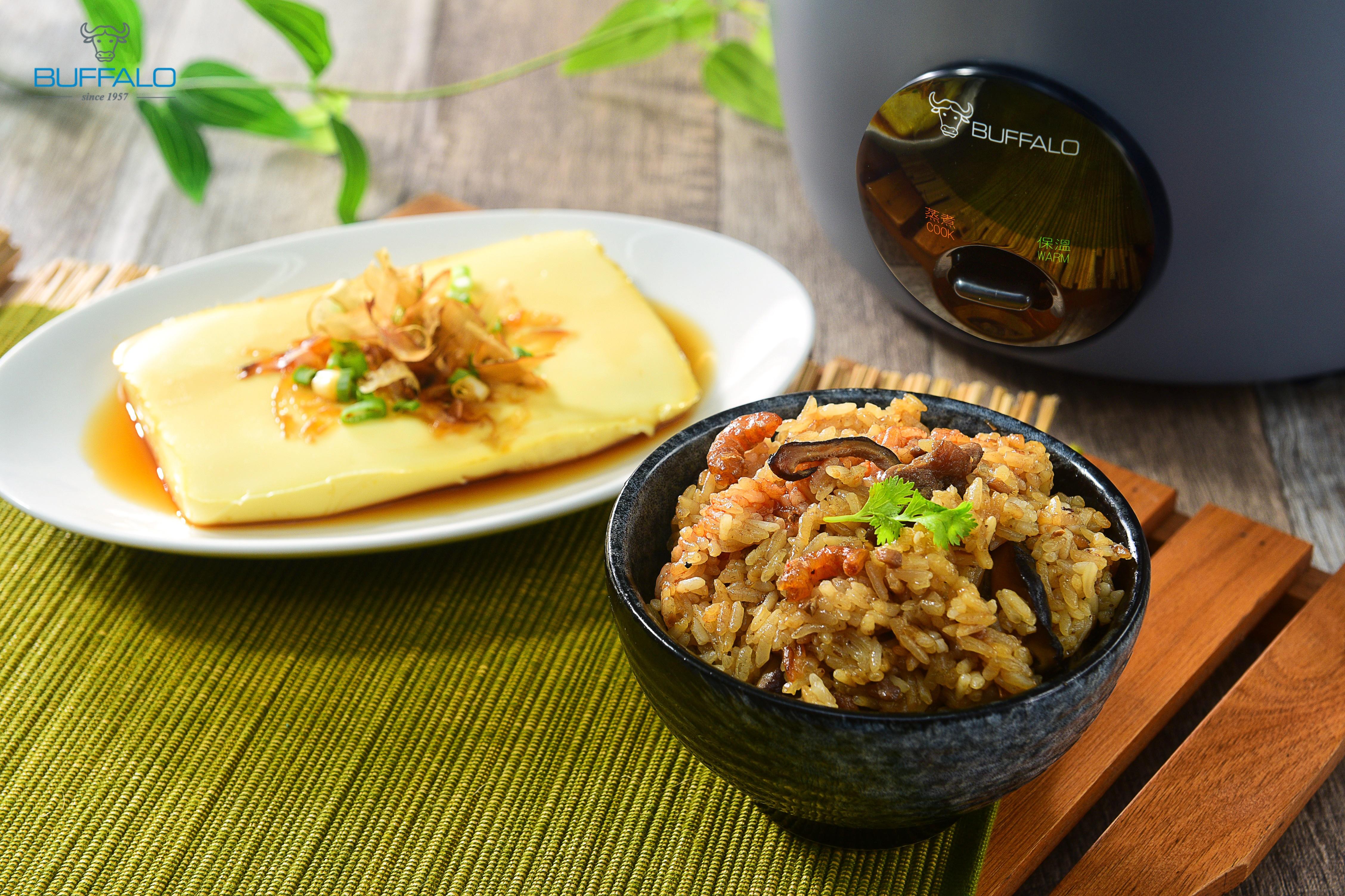 香菇油飯+雞蛋豆腐 (一鍋二菜)