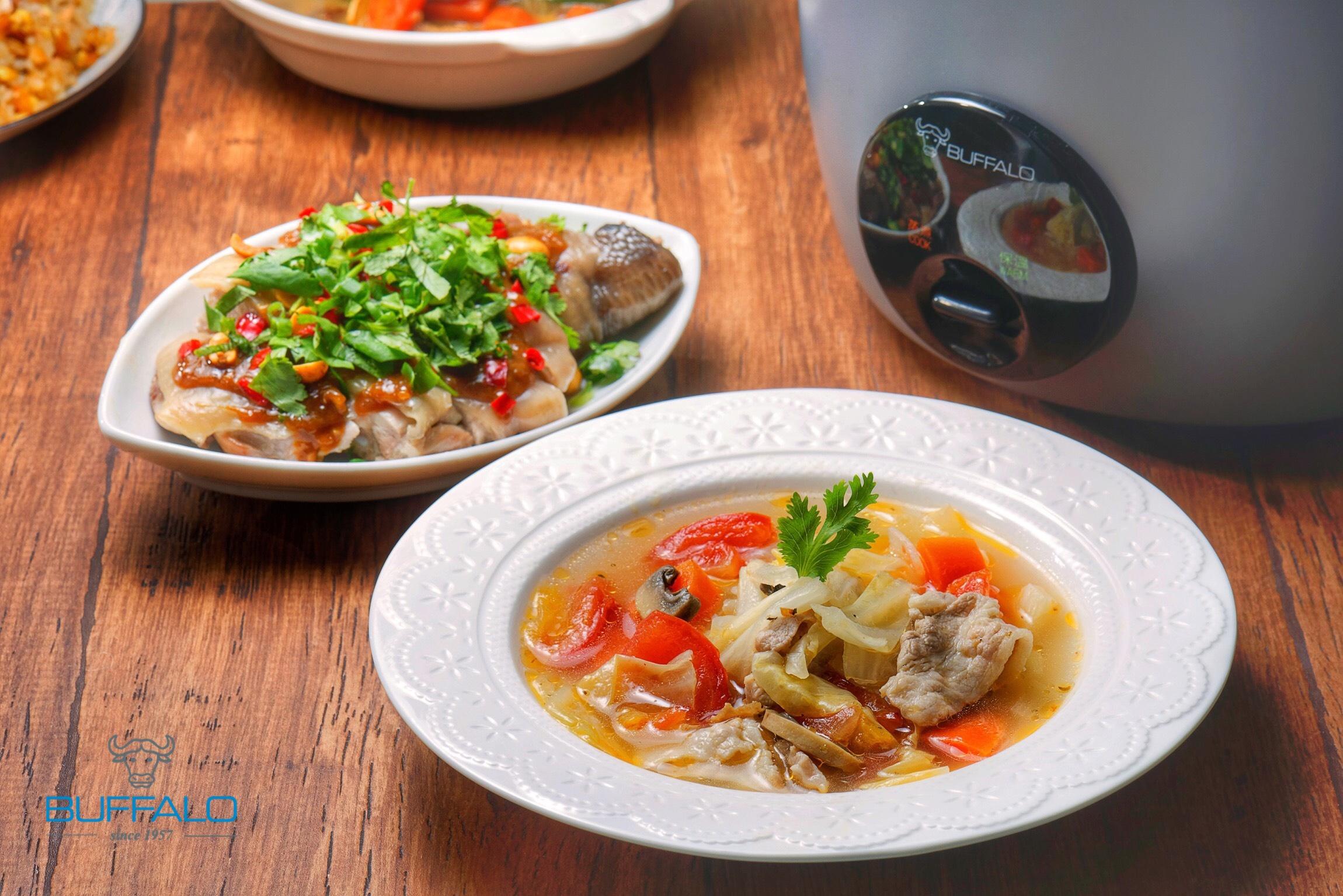 元氣蔬菜湯+怪味雞