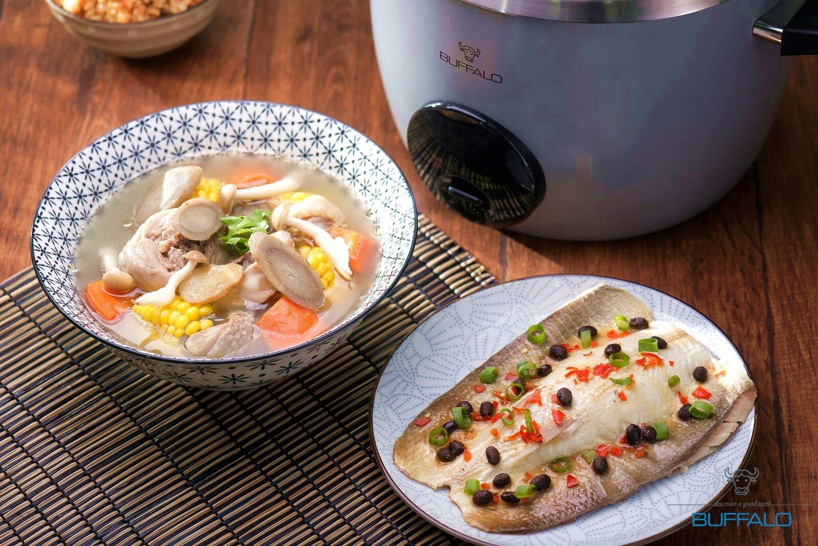 牛蒡鮮蔬雞湯+豆豉虱目魚肚