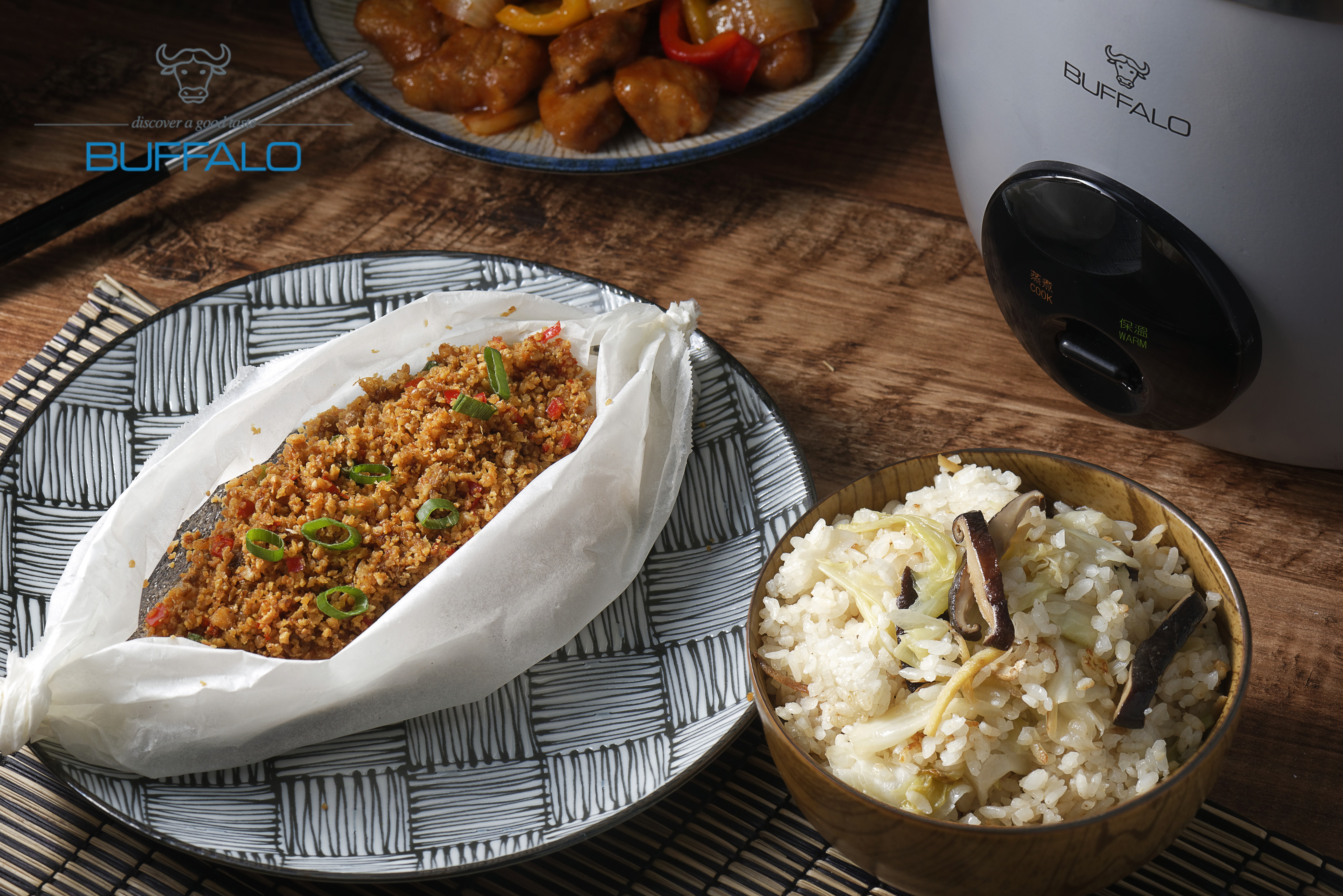 麻油香菇菜飯+豆酥鱈魚