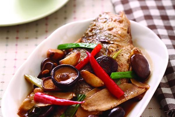 蔥燒鮮黃魚
